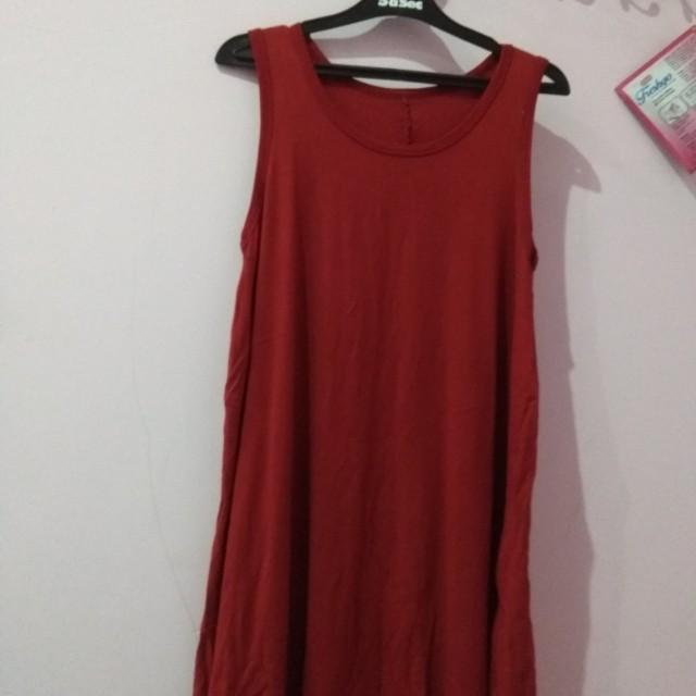 Tank Dress Merah