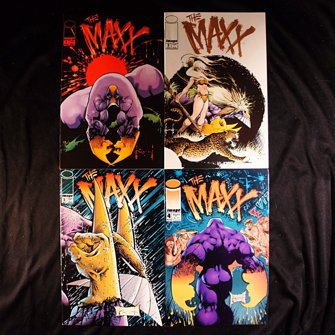THE MAXX #1, 2, 3, 4 (1993 Image) Sam Keith [Lot of 4]