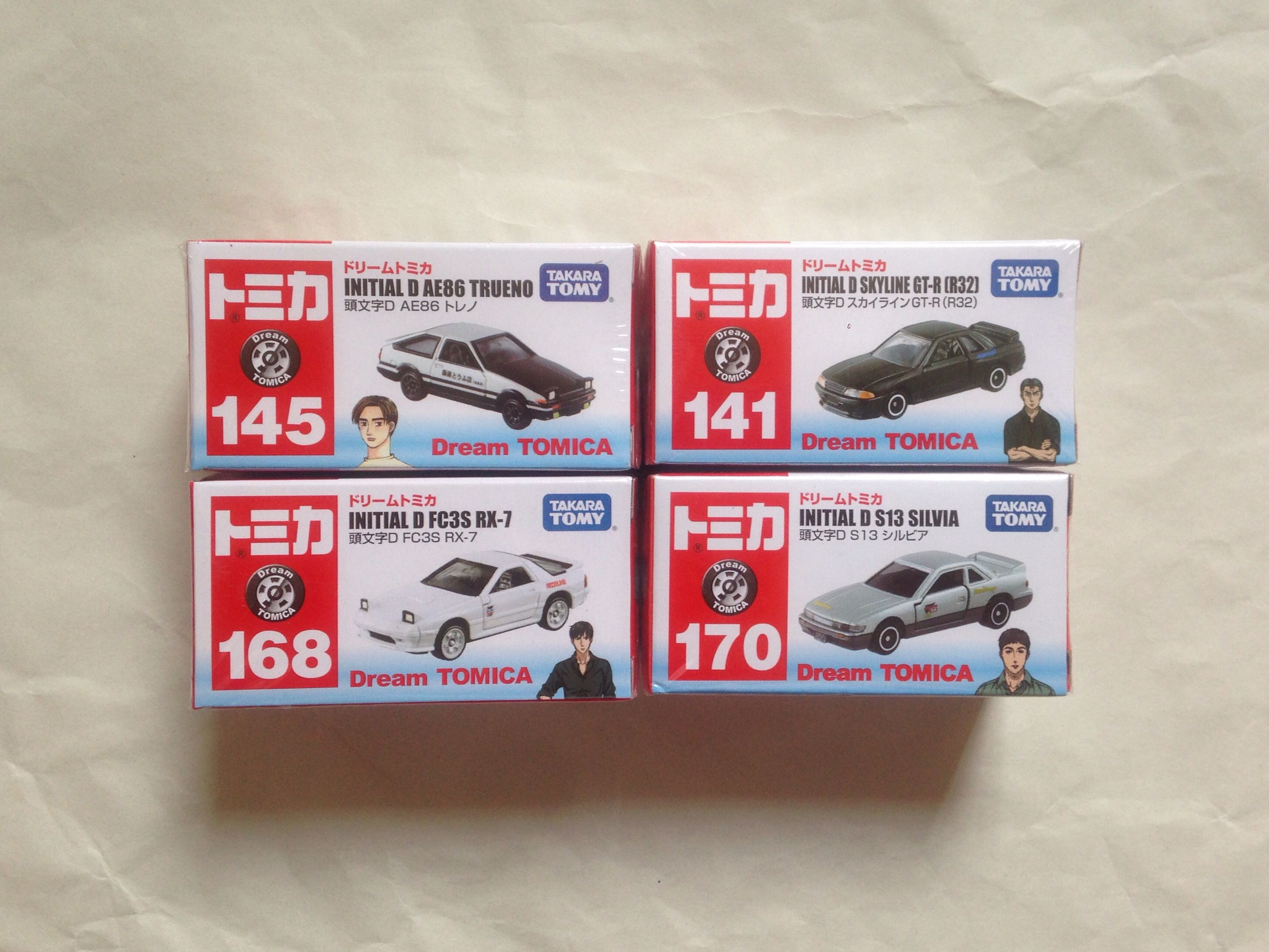 Tomica Lot Initial D Set Of 4 Toys Games Others On Carousell Skyline Gt Rr32 No 141 Dream