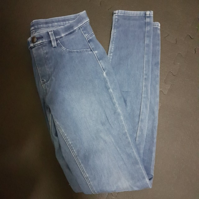 Uniqlo彈性窄管褲 小腳褲