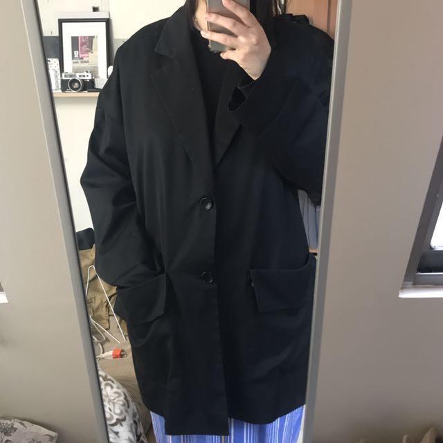 🖤WAM購買韓貨黑oversized 西裝外套