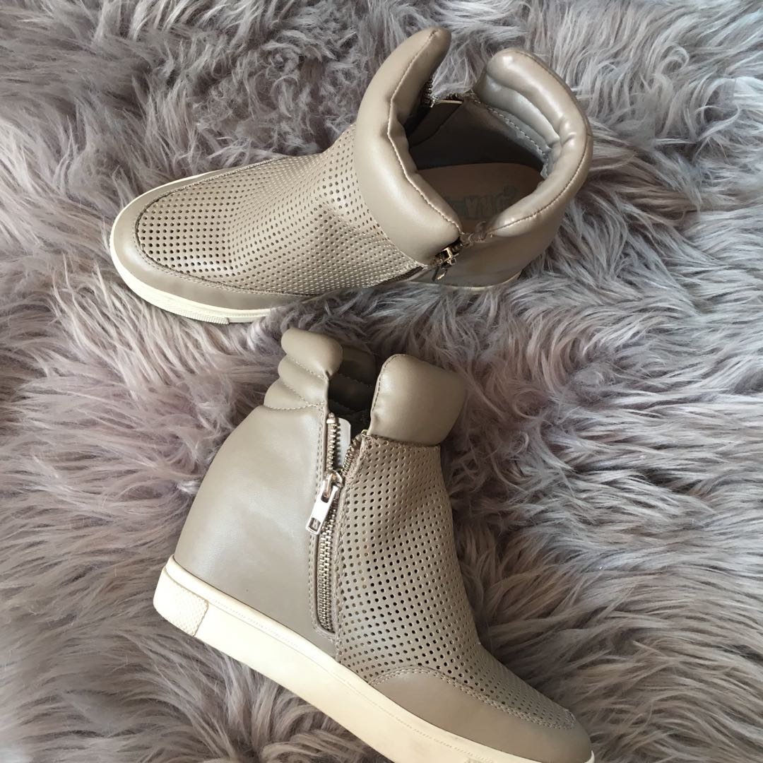 WEDGED SNEAKER BOOTS