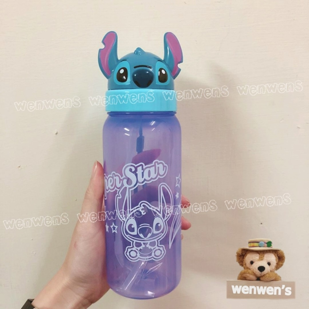 【Wenwens】代理 正版 迪士尼 星際寶貝 史迪奇 小熊維尼 米奇 吸管 翻蓋 水壺 500ml 附吸管 單售價