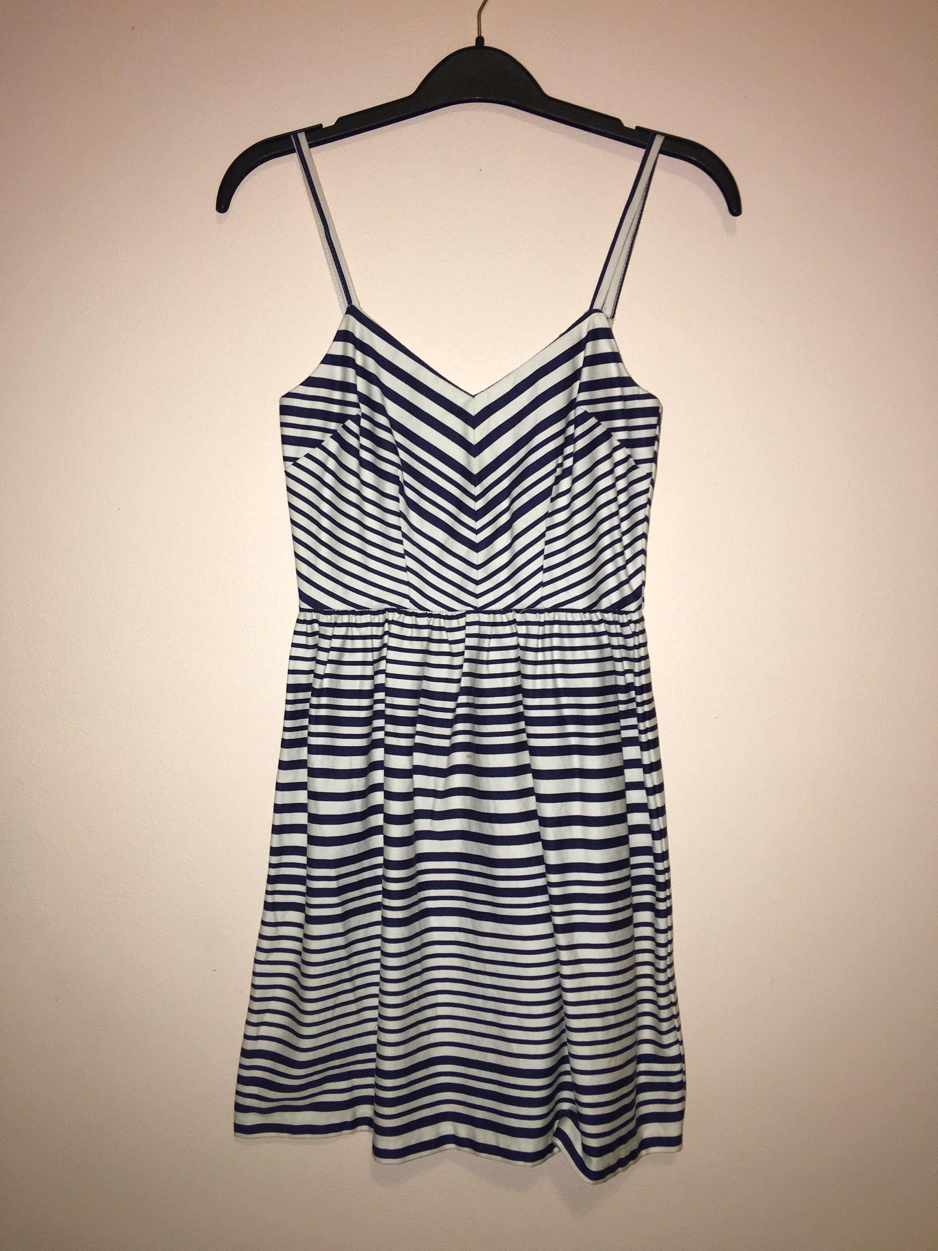 White & Navy dress