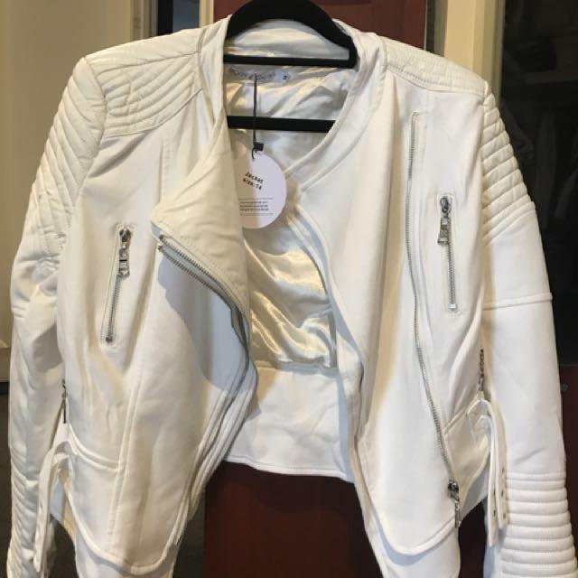 White Bessy biker jacket