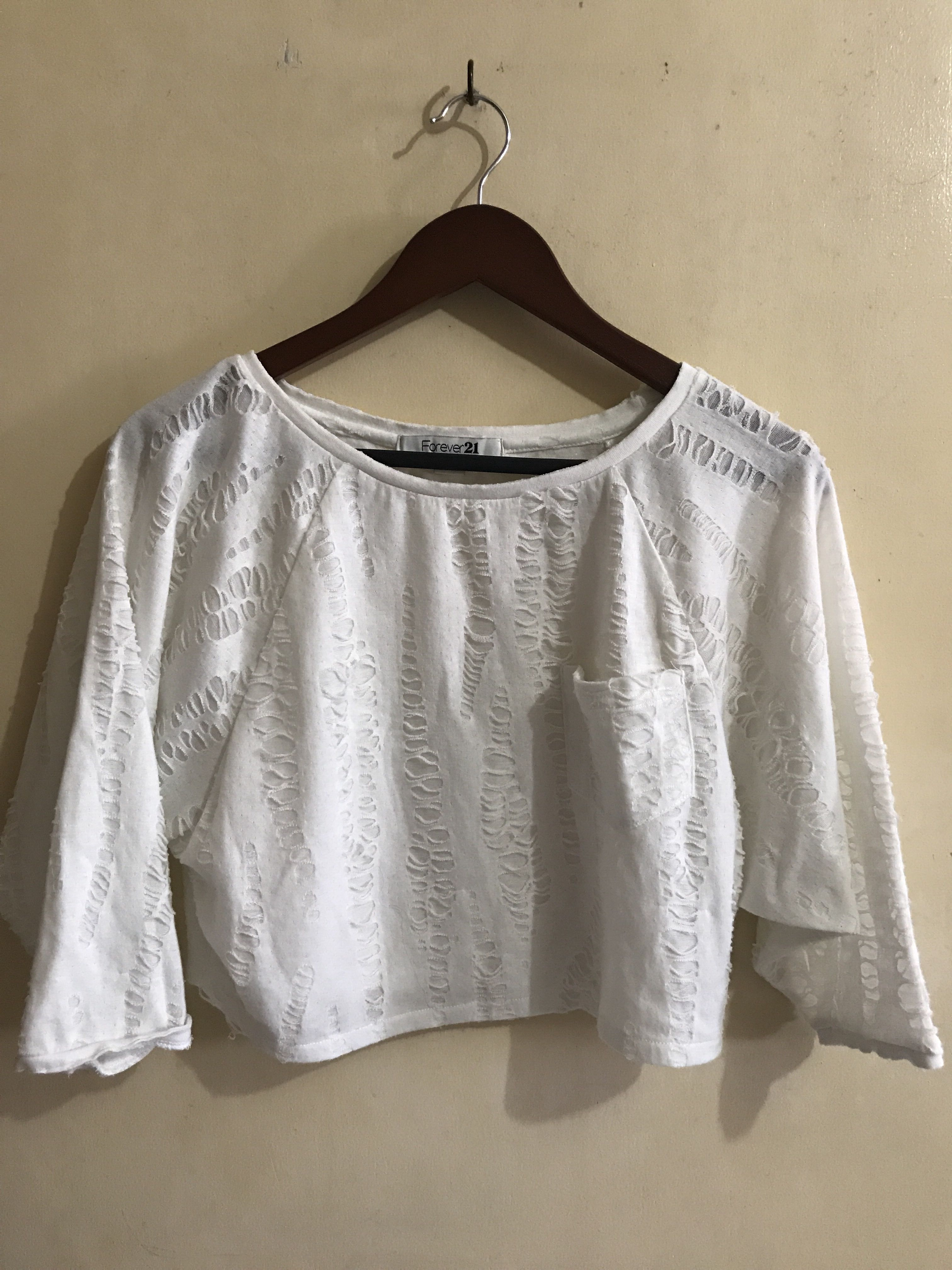 White Cropped top