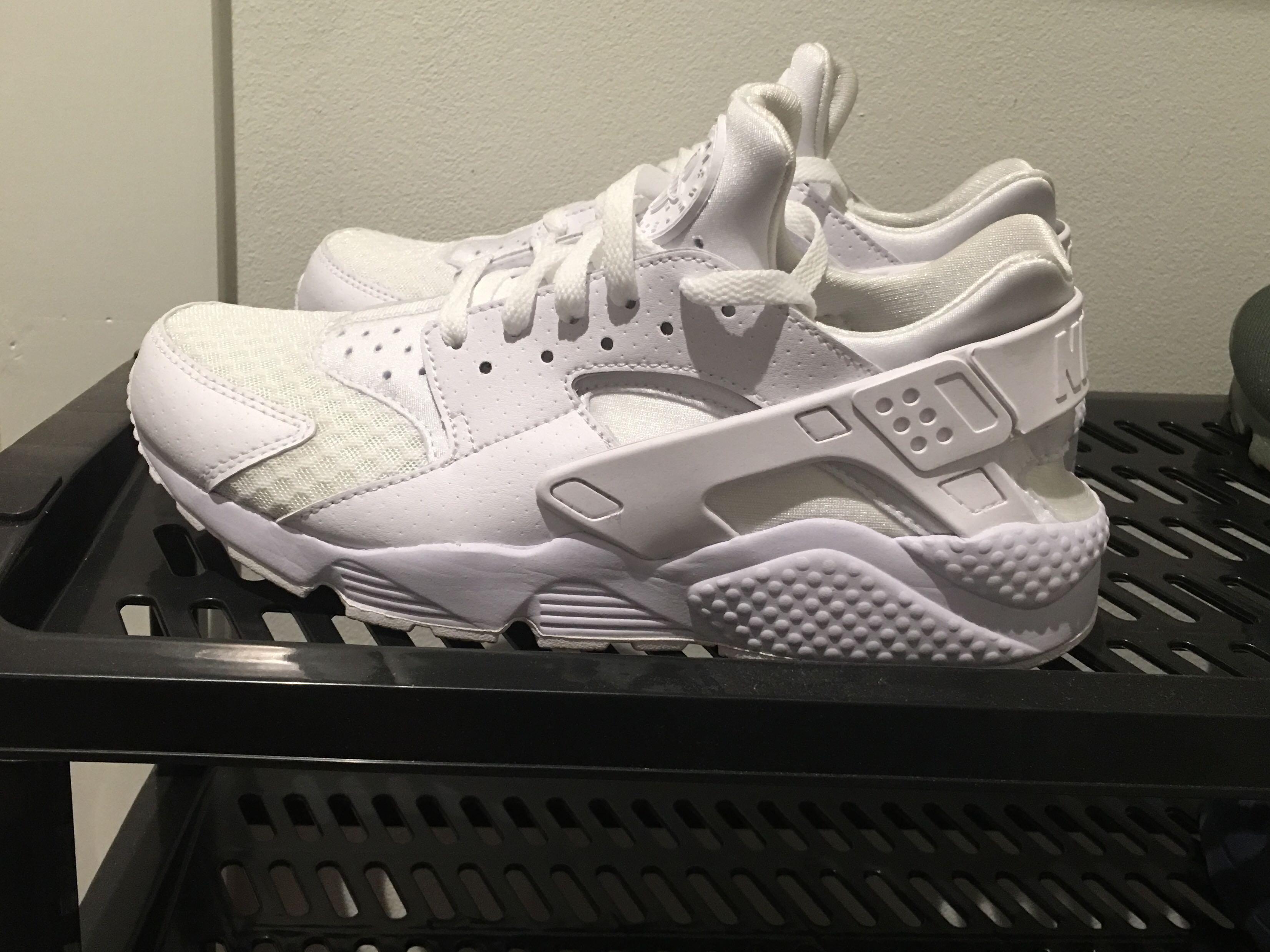White Nike Huarache Sneakers