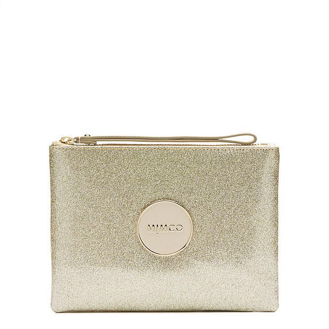 WTS Mimco Shimmer Medium Pouch Gold
