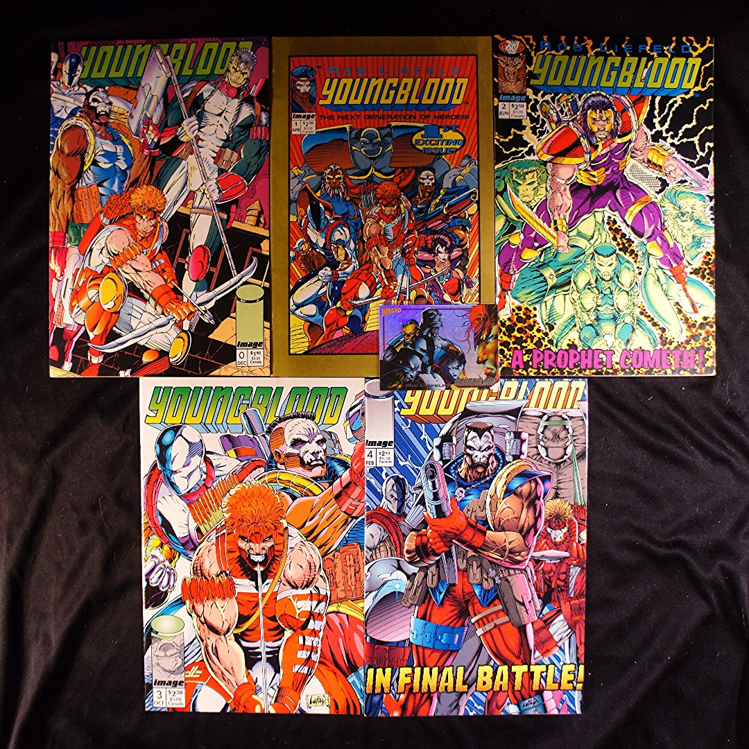 YOUNGBLOOD #0, 1, 2, 3, 4 (1992 Image) Rob Liefeld [Lot of 5]
