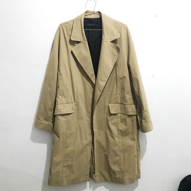 🥔Zara 駝色風衣大衣外套~