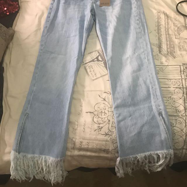 Zara Flared Bottom Jeans