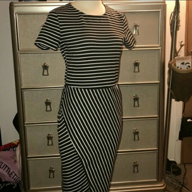 Zara Midi Stripe Dress