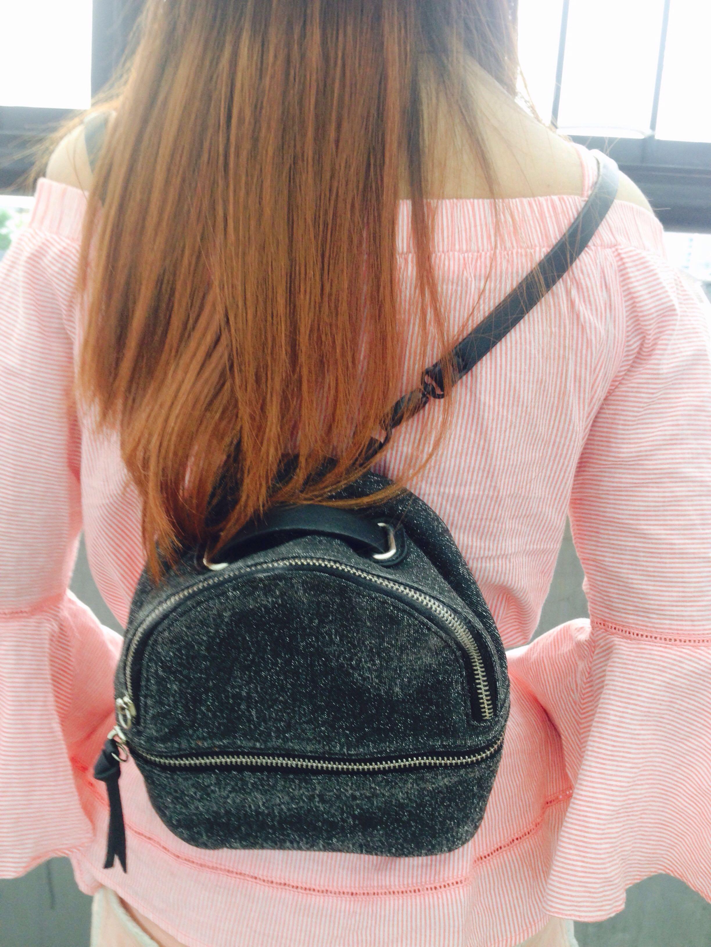zara mini bagpack glitter