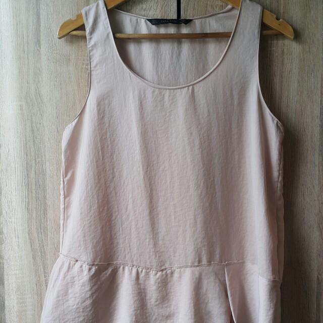 Zara Nude Silk Top