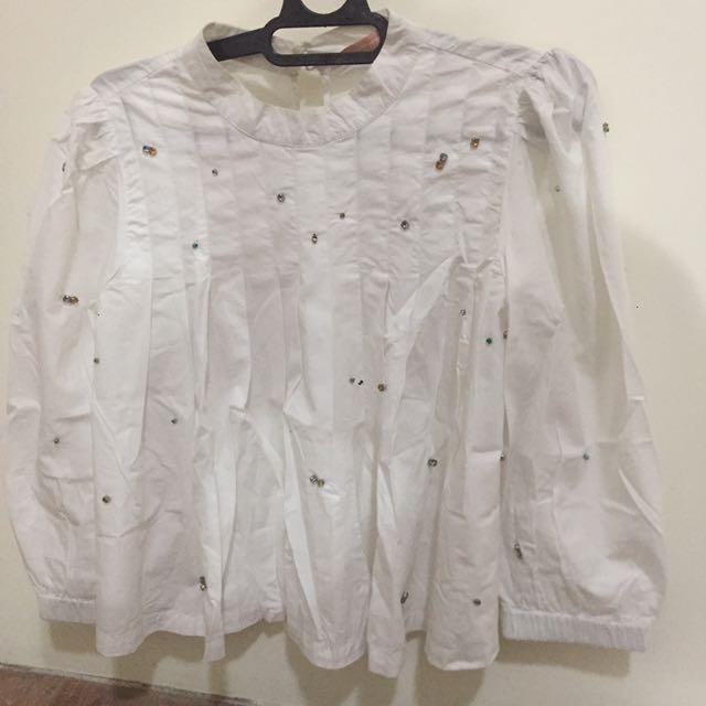 Zara trafaluc blouse