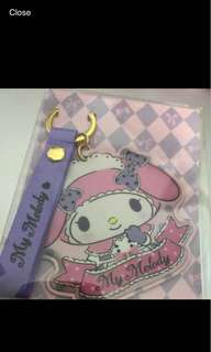 My Melody mini card holder keychain