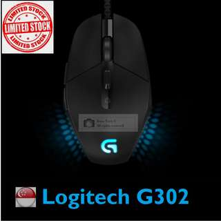 Logitech G302 Daedalus Prime MOBA Gaming Mouse 2 Years Local Warranty (Limited Stock !)