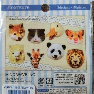 可愛動物貼紙包