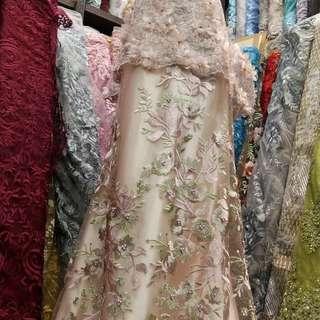 Tile eli saab lace 3D | atasan kebaya atau baju wisuda