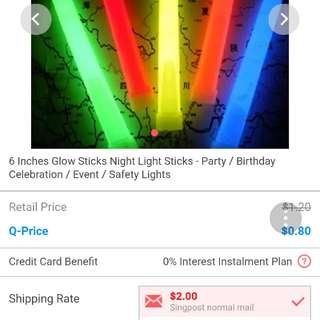 BN light sticks in various colors