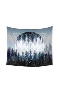 Celestial full moon in the forest design throw