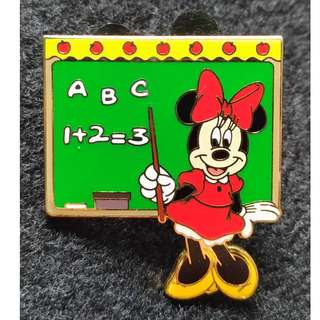 Disney Teacher Minnie Mouse Collectors Pin