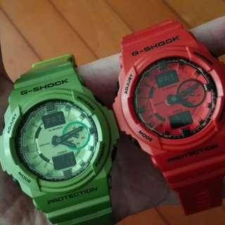 G shock ga150 watch 手錶 Green and Orange colour
