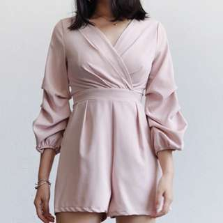 Pink bubble sleeve Jumpsuits