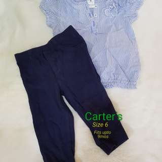 Leggings and blouse set