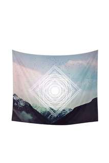 Milky Way block set on the snowy mountains designed throw