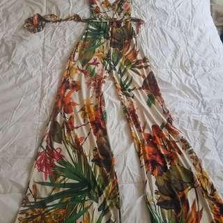 BNWT one piece floral jumper