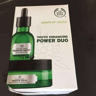 BNIB the bodyshop drops of youth youth enhancing power duo