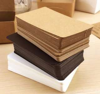 100pcs Kraft Card Set (Brown / White / Black)