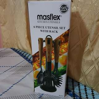 Masflex 6-Piece Utensil Set with Rack