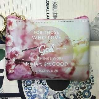 Bible verse coin purse