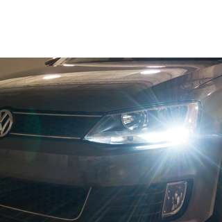 VW Volkswagen white LED lights upgrade