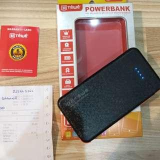 powerbank TEWE 5200mAh bisa android bisa iphone
