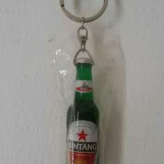 Gantungan Kunci Botol Bir Bintang 5 pcs
