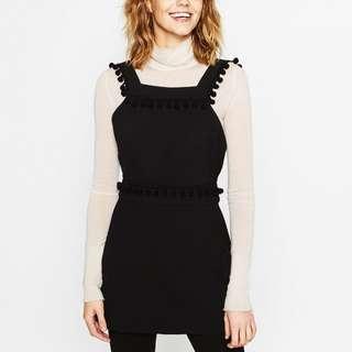 *new* Zara pinafore dress