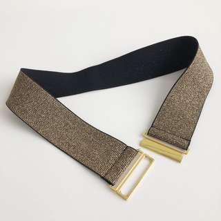 Gold / Black Elastic Belt