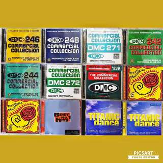 Various Premium Quality Discotheque CDs for Sale, produced by DMC, BMG or Avex Trax. Detail below. Good Condition.  All 12 pcs for $36 only!