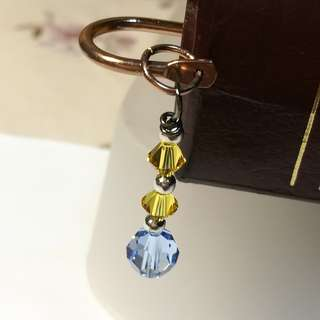 Swarovski Crystal Bookmark (Blue) Copper Version