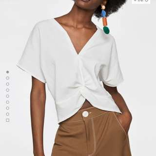 Zara Front Knot Top