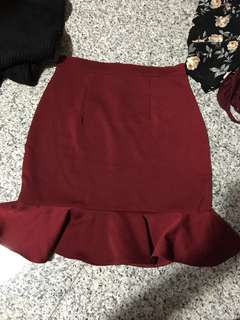 Mermaid Maroon Skirt