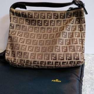Fendi經典帆布手挽袋 100%真品 95%新