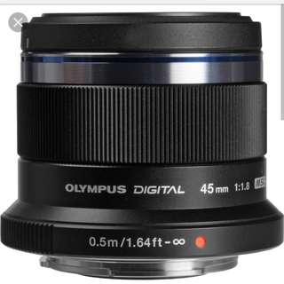 Olympus 45mm F1.8 brand new in box