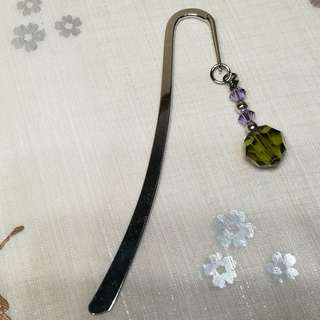 Swarovski Crystal Bookmark (Green)