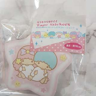 Authentic Sanrio Little Twin Stars Tape Sticker