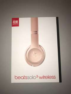 Rose Gold Beats by Dre solo 3 wireless