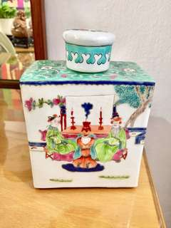 Antique Porcelain Tea Caddy